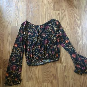 Free people cropped long sleeve top